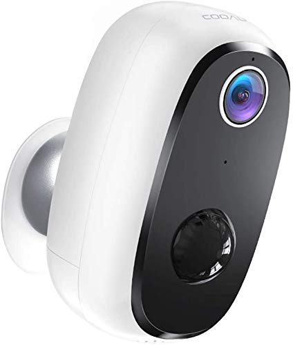 🥇 COOAU Rechargeable Battery Powered Home Security Camera