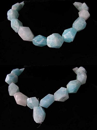 (801cts Hemimorphite Faceted Nugget Bead Strand for Jewelry Making 110390H)