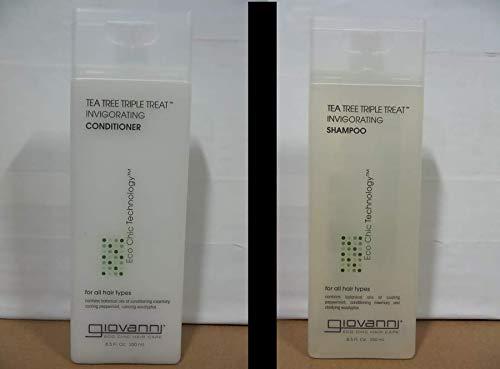GIOVANNI Tea Tree Triple Treat Invigorating Shampoo & Conditioner, 8.5 Oz