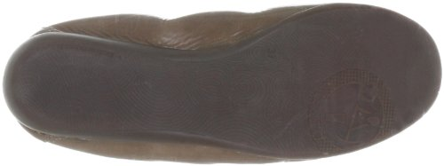 Wonders A3701 Damen Schuhe elegante Lackleder Ballerinas Loafers-Style Slipper Fango