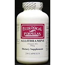 Ecological Formulas Allithiamine Vitamin B1 Capsule, 50 mg, 250 Count