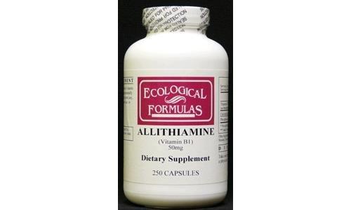 Ecological Formulas Allithiamine Vitamin B1 Capsule, 50 mg, 250 Count