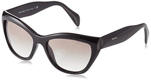 Prada Women's PR 02QS 1AB0A7 Black/Grey Gradient - Eyewear Women Prada