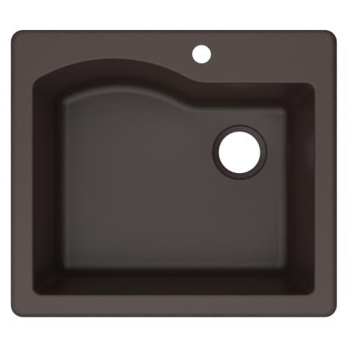 Kraus KGD-441BROWN Quarza Granite Kitchen Sink, 25-inch, Bro