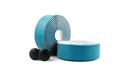 MARQUE Diamond Pattern Bar Tape – Road Bike Handlebar Wrap with Tacky Non-Slip Grip and Padded Vex Gel Silicone Backing – 2PCS per Set