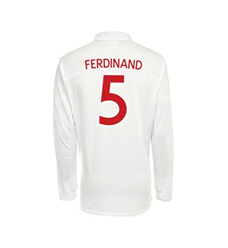 Umbro FERDINAND #5 England Home Jersey Long Sleeve (2XL) ()