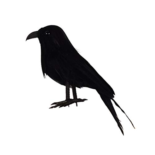 BESTOYARD Halloween Simulation Birds Mini Realistic Crows Decoration Party Props for Carnivals Cosplay Costume Ball (Black) ()