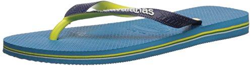 (Havaianas Brazil Mix Flip Flop Sandal, Turquoise, 35/36 BR (6 M Women's/4-5 M US)
