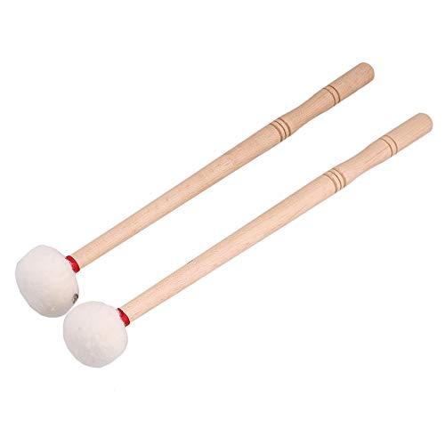 12inch Timpani Mallets Felt Head Drum Sticks with Wood Handle Multi-Purpose Felt Mallet Double Stick