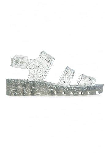 JuJu - Sandalias de vestir para mujer Plateado plata