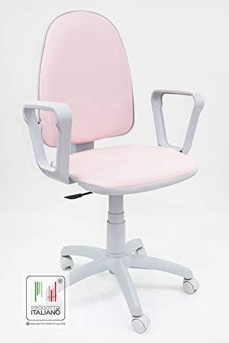 Sedia Da Scrivania Con Rotelle Girevole Per Ufficio E Cameretta In Ecopelle Rosa Amazon It Cancelleria E Prodotti Per Ufficio