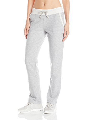 Cotton Fleece Oxfords - Champion Women's Fleece Open Bottom Pant, Oxford Heather/Oatmeal Heather, X-Large