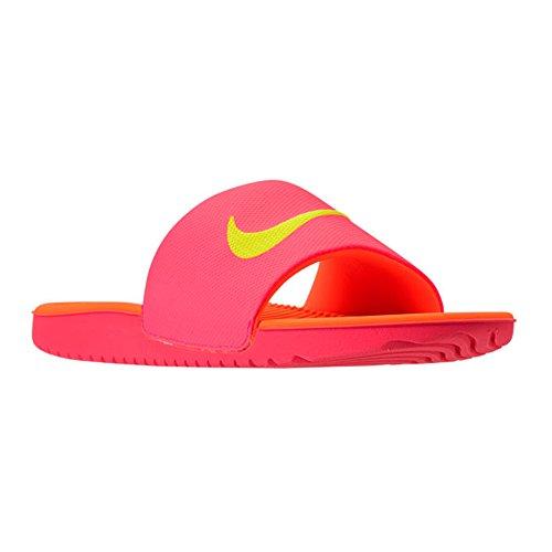 (NIKE Kids' Kawa Slide (GS/PS) Athletic Sandal (11 M US Little Kid, Hot Punch/Volt-Total Orange))