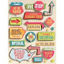 Happy Trails Grand Adhesions Embellishments-Road Signs
