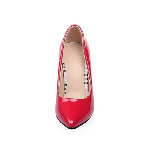 1TO9 donna in tessuto tomaia low-cut nuziale in poliuretano pumps-shoes, Rosso (Red), 35
