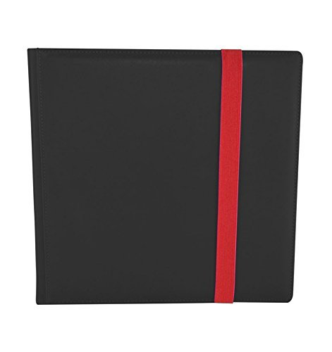 Dex Protection Dex Binder 12 Black Deluxe Portfolio 12-Pocket Velvet-Lined Playset Album Holds 480 Cards Double Sided, Side-Load Binder fits Magic, Pokemon, Yu-Gi-Oh