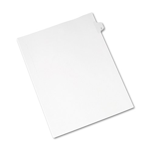 - Avery Individual Legal Exhibit Dividers, Allstate Style, D, Side Tab, 8.5 x 11 inches, Pack of 25 (82166)