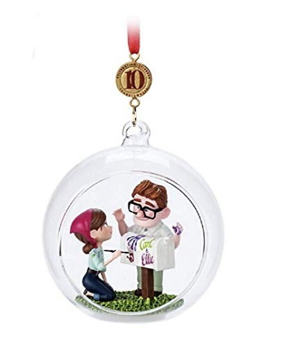 """Disney 2019"""" UP 10th Anniversary Carl and Eillie Sketchbook Ornament"""
