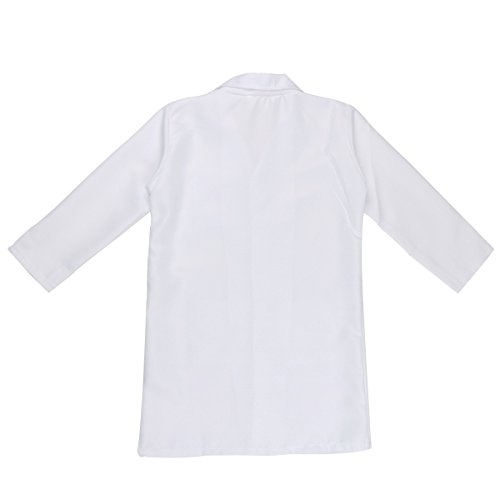 Freebily Scrubs Childrens Lab Coat-Soft Fabric Long Sleeve Doctor Uniform White Cosplay Dress up Costume White 4-5 by Freebily (Image #1)