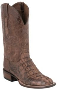 Lucchese Cowboy Collection Natural Burnish Caiman - Lucchese Natural
