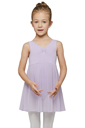 Dance Leotard with Skirt for Girls by Mdnmd (Tag 13) (Age 6-8, ()