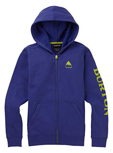 Burton Kids Elite Full Zip Hoodie, Royal Blue, X-Large