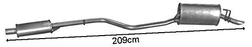 ETS-EXHAUST 340 Il sistema di silenziatori (pour PUNTO 1.1 HATCHBACK 54hp 1993-1999) ETS-SCARICO