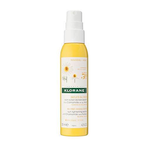 (Klorane Sun Lightening Spray with Chamomile & Honey, Natural Controlled Highlights, Paraben, Hydrogen Peroxide, Ammonia, Sulfate Free, 4.2 oz. )
