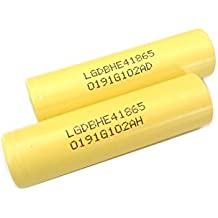 2 Authentic 18650 LG HE4 High Drain Flat Top / 2500mAh 35A Li-Ion Rechargeable Battery