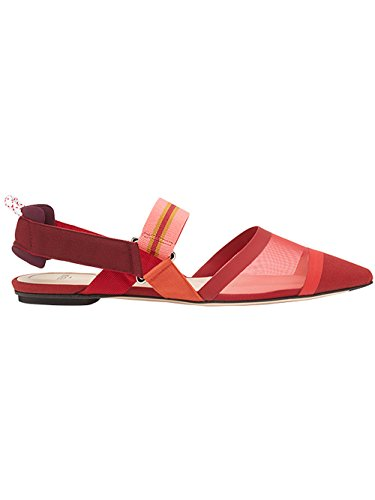 outlet footlocker with credit card for sale Fendi Women's 8R6709A331F12K4 Red Leather Flats outlet 2014 new D0yC2EM