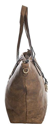 Tan Handle Shopper 5 Vegan Bag Medium Design Shop Large Shoulder Tote Size Womens Big Leather Top Handbag WqHUaYwa