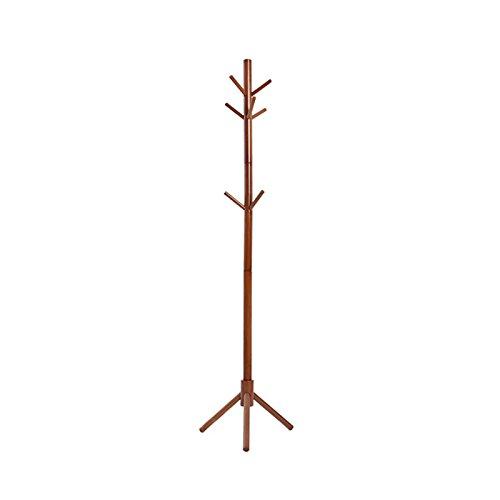 Solid Wood Coat Rack Nine Hanging Branches Bold Cylindrical Coat Rack Bedroom Floor Hanger Hanging Rack Clothes Rack Wood Color Durable ()