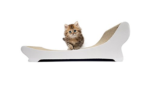 (Clean kitty Chaise Lounge Corrugated Cat Scratcher with Bonus Catnip)