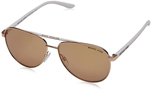 Gold Pilot - Michael Kors MK5007 1080R1 Rose Gold Hvar Pilot Sunglasses Lens Category 2 Lens