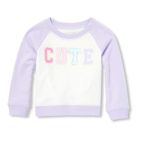 The Children's Place Baby Girls Long Sleeve Graphic Novelty Sweatshirt, Dream Purple, 6-9MONTHS (Children Place Clothes)