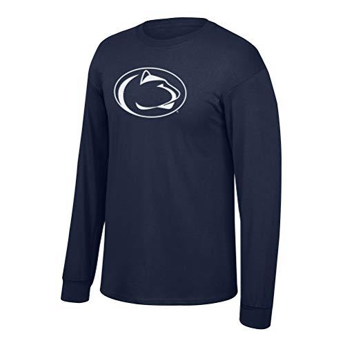 Elite Fan Shop NCAA Men's Penn State Nittany Lions Long Sleeve Shirt Team Icon Penn State Nittany Lions Navy Medium