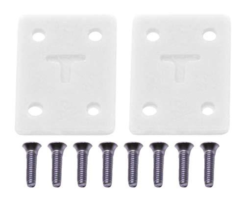 티크 튜닝 핑거 보드 라이저 패드 키트 8 개의 여분의 긴 나사가있는 2 개의 라이저 세트 화이트 예티 컬러 웨이