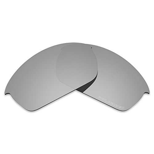 (Tintart Performance Lenses Compatible with Oakley Flak Jacket Polycarbonate Polarized Etched-Silver Metallic)