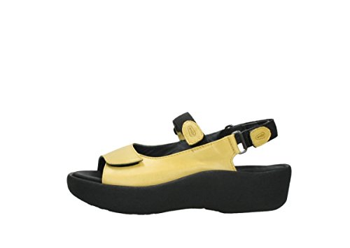 Yellow 3204 Jewel Leather Wolky Sandals Womens npxv5qwRX
