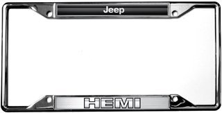 Awesome Jeep / HEMI License Plate Frame