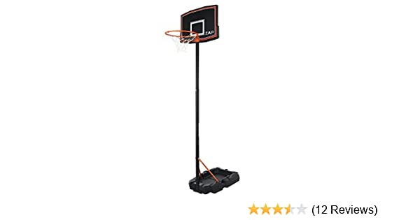 Renewed ZAAP Junior Youth Basketball Hoop Outdoor System Portable with Wheels Adjustable Height 5.4FT- 7.2FT