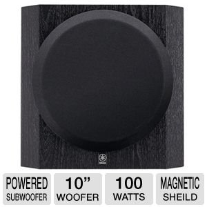 Yamaha 10'' 100W Front-Firing Sub-woofer with Advanced YST II Linear Port For Minimizing Extraneous Noise, 10'' Driver With Long-Stroke Cone, Black Finish by Yamaha