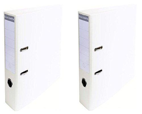 A4 Archivadores De Palanca 70 mm colores Pastel, 2 unidades, color blanco: Amazon.es: Oficina y papelería
