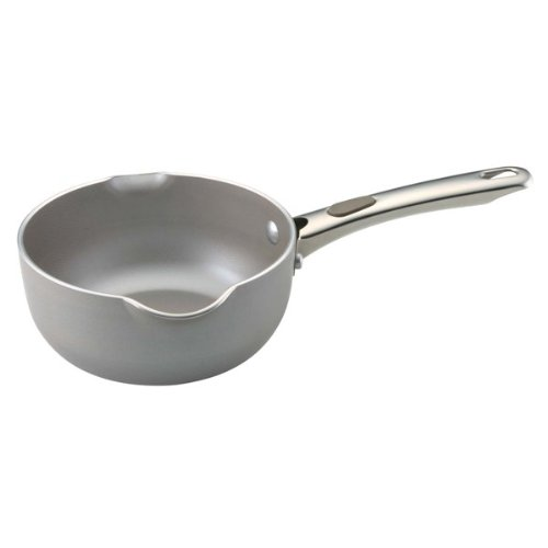 - Farberware Specialties Aluminum Nonstick 1-Quart Saucier with Pour Spouts, Platinum