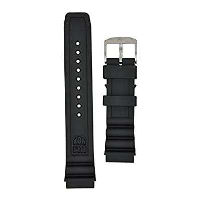 Luminox 8400 Strap Replacement Watch Band Black Silicone 22mm from Luminox