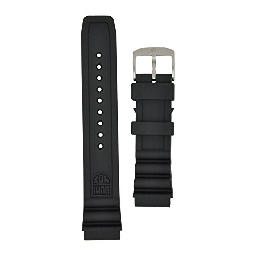 Luminox Replacement Band - Luminox 8400 Strap Replacement Watch Band Black Silicone 22mm
