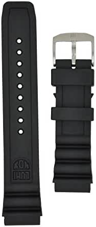 Luminox 8400 Strap Replacement Watch Band Black Silicone 22mm