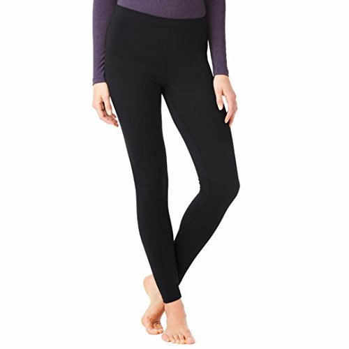 Women Heat BaseLayer Legging, Black, Medium