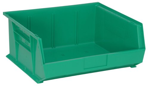 Quantum QUS250 Plastic Storage Stacking Ultra Bin, 14-Inch by 16-Inch by 7-Inch, Green, Case of 6 ()