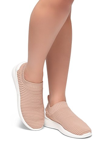Herstyle Charlie Mode Easy Walk Instapper Vlieg Lichtgewicht Recreatieve Comfortschoenen Sneakers Mauve